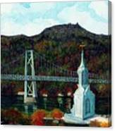 Our Lady Of Mt Carmel Church Steeple - Poughkeepsie Ny Canvas Print