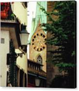 Our Ladys Minster Church In Zurich Switzerland Canvas Print