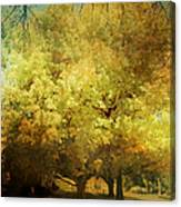 Our Town In Autumn Canvas Print