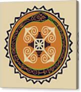 Ouroboros With Devine Fire Wheel Canvas Print