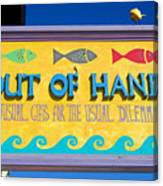 Out Of Hand Shop Sign Canvas Print