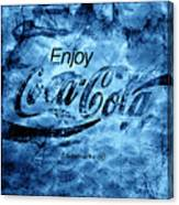 Out Of This World Coca Cola Blues Canvas Print