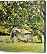 Outbuilding At Oriskatach New York Canvas Print