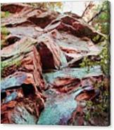 Outcrop At Wildcat Den Canvas Print
