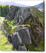 Outcrop In Snowdonia Canvas Print