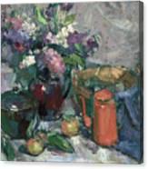 Outdoor Lilacs Canvas Print