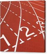 Outdoor Running Track Canvas Print