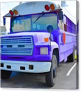 Outer Banks University Bus 1 Canvas Print