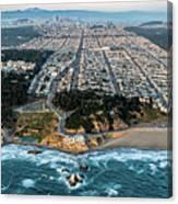 Outer Richmond San Francisco Aerial Canvas Print