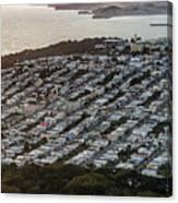 Outer Richmond San Francisco Aerialouter Richmond San Francisco Aerial Canvas Print