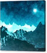 Outer Space Mountains Canvas Print