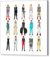 Outfits Of Bowie Canvas Print