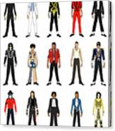 Outfits of Michael Jackson Canvas Print