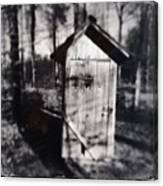 Outhouse black and white wetplate Canvas Print