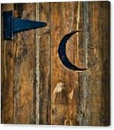Outhouse Door  Canvas Print