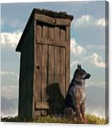 Outhouse Guardian - German Shepherd Version Canvas Print