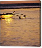 Outrigger And Sunset Canvas Print