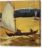 Outrigger Off Shore Canvas Print
