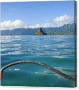 Outrigger On Ocean Canvas Print