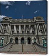 Outside The Library Of Congress Canvas Print