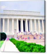 Outside The Lincoln Memorial Canvas Print