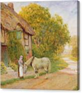 Outside The Village Inn Canvas Print