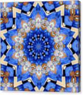 Ovarian Cancer Awareness Mandala Canvas Print