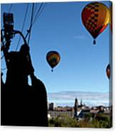 Over Auburn And Lewiston Hot Air Balloons Canvas Print