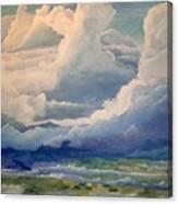 Over Farm Land Canvas Print
