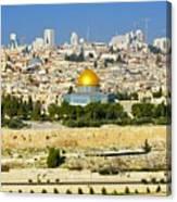 Over Jerusalem Canvas Print