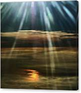 Over Rivers Of Gold Canvas Print