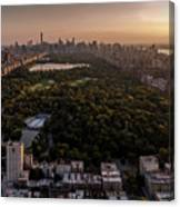 Over The City Central Park Canvas Print