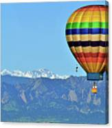 Over The Flatirons Canvas Print