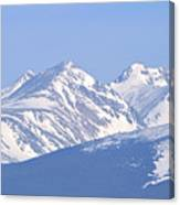 Over The Rockies Canvas Print