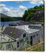 Over The Rooftops At Portree Canvas Print