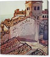 Over The Rooftops, Caceres Canvas Print