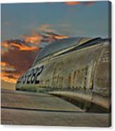 Over The Shoulder F-84g Canvas Print
