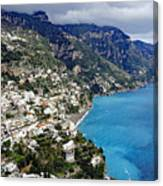 Overall View Of Part Of The Amalfi Coast In Italy Canvas Print