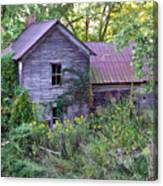 Overgrown Abandoned 1800 Farm House Canvas Print