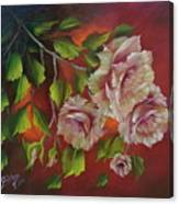 Overhanging Roses Canvas Print