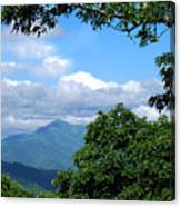Overlook On The Pisgah Trail Canvas Print