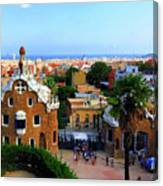 Overlooking Barcelona From Park Guell Canvas Print