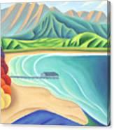 Overlooking Hanalei Bay Canvas Print