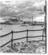 Overlooking Playa Blanca Harbour Canvas Print
