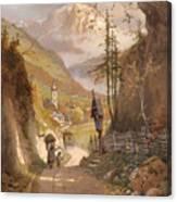 Overlooking Ramsau Bei Berchtesgaden Canvas Print