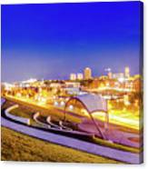 Overlooking Riverfront Canvas Print