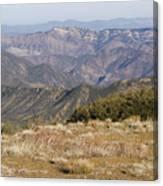 Overlooking Santa Paula Canyon Canvas Print