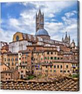 Overlooking Siena And The Duomo Canvas Print