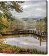 Overlooking The Beauty Of The Lake Canvas Print
