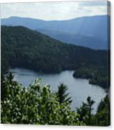 Overlooking The Lake Canvas Print